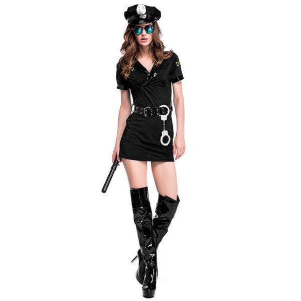 ハロウィン コスプレ 警察  婦人 警官 婦警 仮装 制服 レディース クリスマス イベント パーティーグッズ|e-dance|05