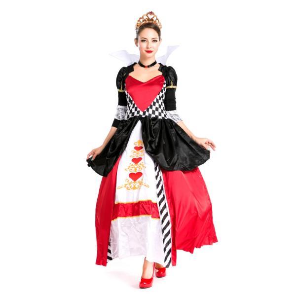ハロウィン コスプレ ハートの女王 レディース コスチューム 不思議の国 クイーン クリスマス 仮装 パーティー ハロウィン衣装|e-dance|02