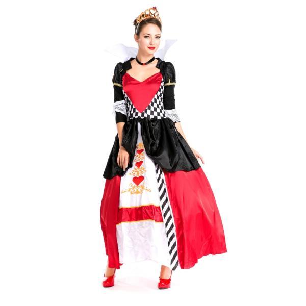 ハロウィン コスプレ ハートの女王 レディース コスチューム 不思議の国 クイーン クリスマス 仮装 パーティー ハロウィン衣装|e-dance|03