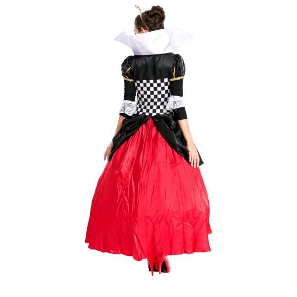 ハロウィン コスプレ ハートの女王 レディース コスチューム 不思議の国 クイーン クリスマス 仮装 パーティー ハロウィン衣装|e-dance|04