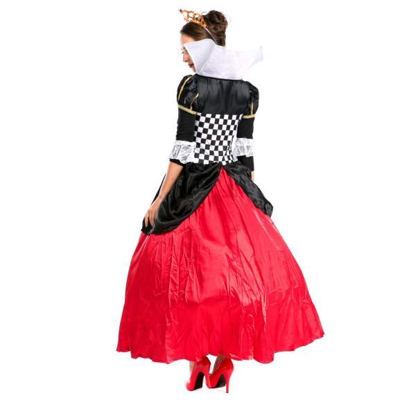 ハロウィン コスプレ ハートの女王 レディース コスチューム 不思議の国 クイーン クリスマス 仮装 パーティー ハロウィン衣装|e-dance|05