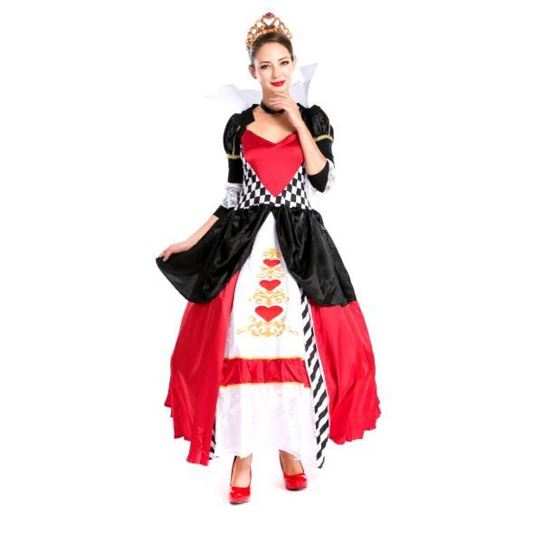 ハロウィン コスプレ ハートの女王 レディース コスチューム 不思議の国 クイーン クリスマス 仮装 パーティー ハロウィン衣装|e-dance|06