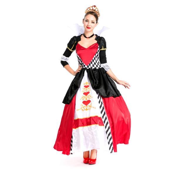 ハロウィン コスプレ ハートの女王 レディース コスチューム 不思議の国 クイーン クリスマス 仮装 パーティー ハロウィン衣装|e-dance|07