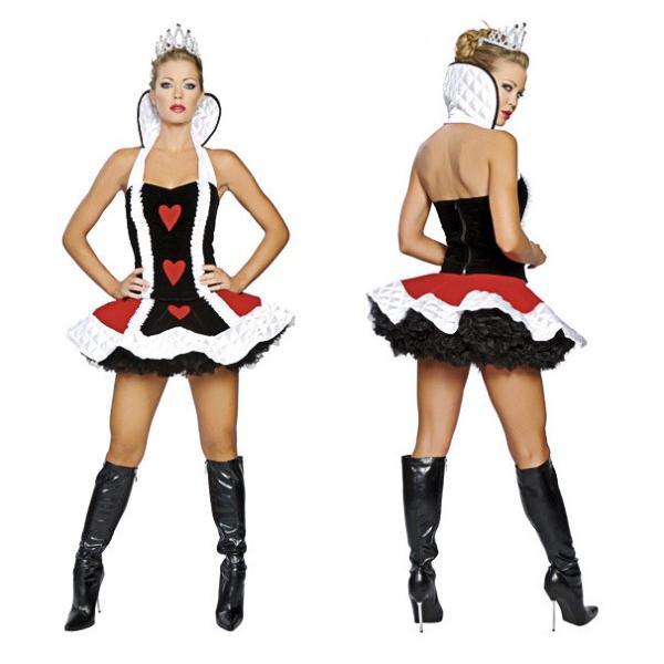 ハロウィン コスプレ ハートの女王 レディース コスチューム 不思議の国 クイーン クリスマス 仮装 パーティー ハロウィン衣装 e-dance