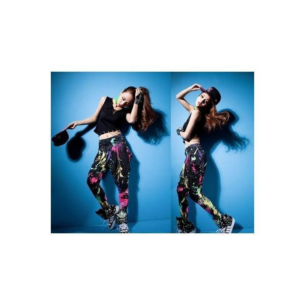 ダンス衣装 サルエルパンツ サラサラして動きやすい カラフル タイダイカーゴ カジュアル ダンスパンツ 運動パンツ|e-dance|03