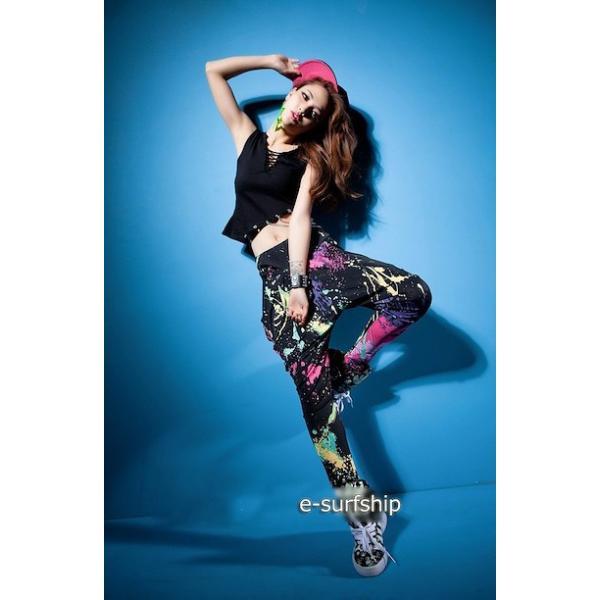 ダンス衣装 サルエルパンツ サラサラして動きやすい カラフル タイダイカーゴ カジュアル ダンスパンツ 運動パンツ|e-dance|05