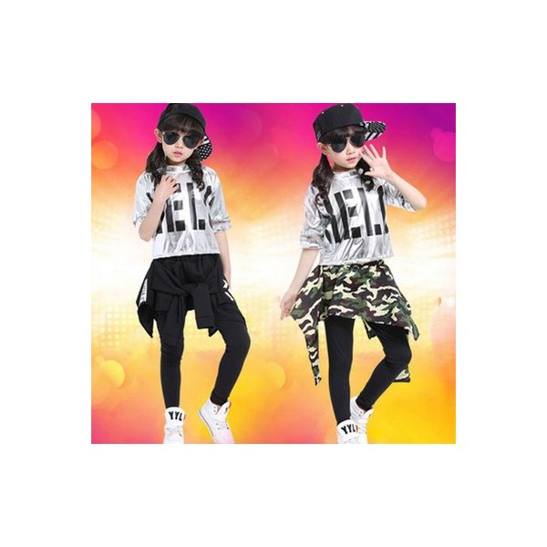 482e02a6c41f2 ダンス衣装 セットアップ キッズ服 子供服スポーツウェア高品質 キッズ ダンス衣装ステージ衣装 ...
