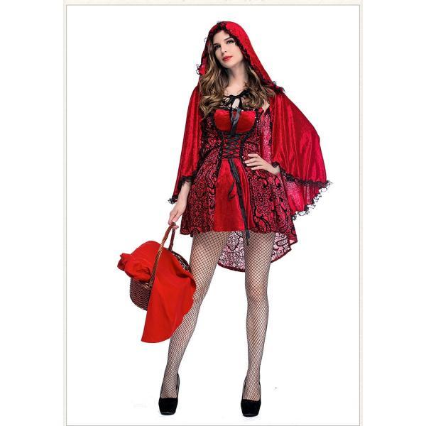 赤ずきん コスプレ仮装 ハロウィン Halloween 衣装 コスチューム マント 大人用 レディース パーティー クリスマス|e-dance|04