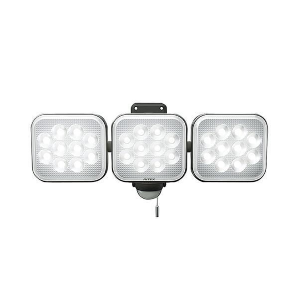 ムサシ MUSASHI ライテックス12Wx3灯 LEDセンサーライト 3000ルーメン 3000lm LED-AC3036 LEDAC3036 ガレージライト 防犯 玄関 庭 ガーデンライト