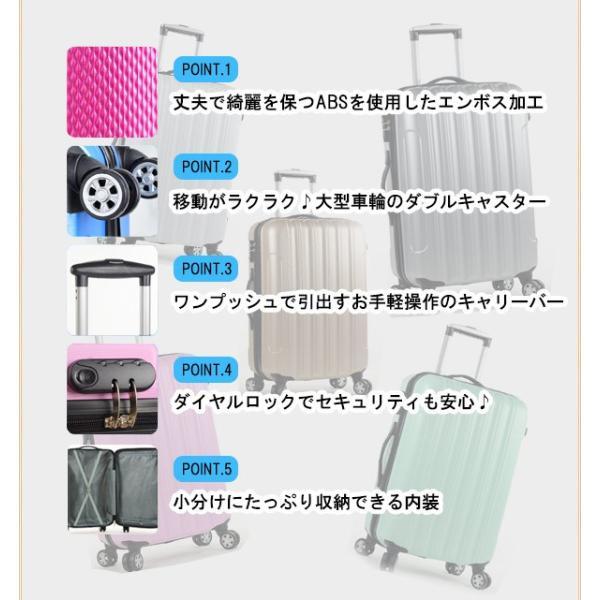スーツケース  人気 かわいい キャリーケース キャリーバッグ アウトドア TK20 Sサイズ e-do-net 05