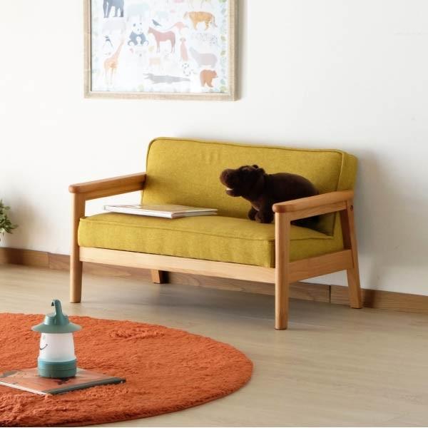 キッズソファ 子供部屋家具 子供用 木製 カルボ キッズ ソファ L  (IS) e-dollar 02