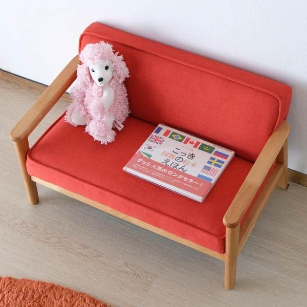 キッズソファ 子供部屋家具 子供用 木製 カルボ キッズ ソファ L  (IS) e-dollar 03