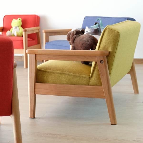 キッズソファ 子供部屋家具 子供用 木製 カルボ キッズ ソファ L  (IS)|e-dollar|05