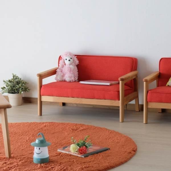 キッズソファ 子供部屋家具 子供用 木製 カルボ キッズ ソファ L  (IS) e-dollar 07