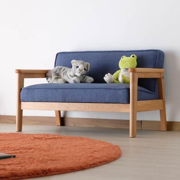 キッズソファ 子供部屋家具 子供用 木製 カルボ キッズ ソファ L  (IS) e-dollar 08