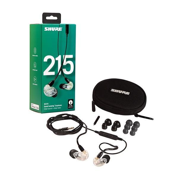 SHURE シュア SE215 クリア UNIケーブル付属 (SE215-CL-UNI-A) ケーブル着脱式 高音質 有線 カナル型 イヤホン