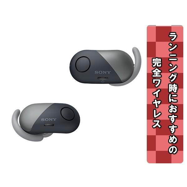完全ワイヤレスイヤホン ノイズキャンセリング Bluetooth イヤホン SONY ソニー WF-SP700N BM ブラック コードレスイヤホン|e-earphone