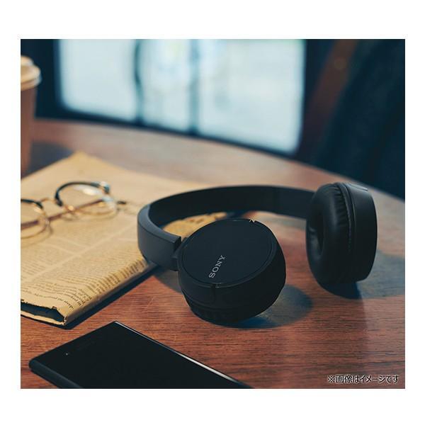 Bluetoothヘッドホン SONY WH-CH500 BC(ブラック) 折り畳み可 ポータブル ワイヤレス ヘッドフォン