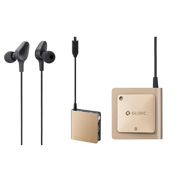 Bluetoothイヤホン GLIDiC Sound Air WS-7000NC/ゴールド aptX対応 ノイズキャンセリング ハンズフリー通話 ワイヤレス ヘッドセット
