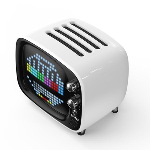 DIVOOM Tivoo WHITE ホワイト LEDディスプレイ搭載 Bluetooth ワイヤレス スピーカー