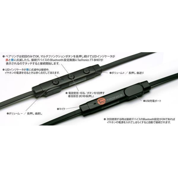 TaoTronics(タオトロニクス) Bluetooth ワイヤレスイヤホン スポーツ TT-BH07 ブラック|e-earphone|04