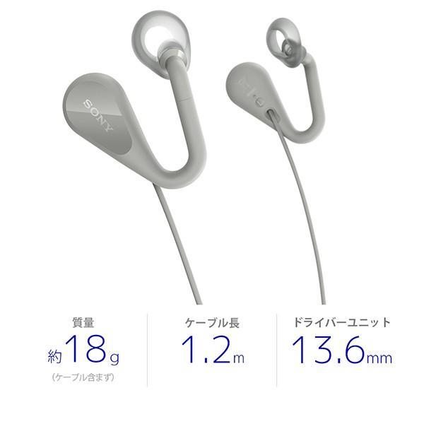 ながら聞き イヤホン リモコン付き SONY ソニー STH40DJP H グレー (送料無料)|e-earphone|02