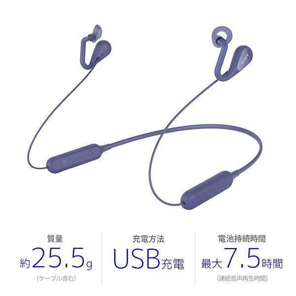 ながら聞き ワイヤレス イヤホン SONY ソニー SBH82DJP L ブルー Bluetooth リモコン付き ハンズフリー通話 (送料無料) e-earphone 02