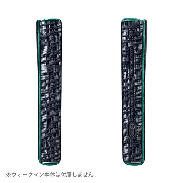 NW-A30シリーズ用フルアーマーケース(ソフトレザー) ダークネイビー(CP-NWA30LC1/N)液晶保護ガラス付き
