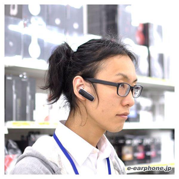 片耳 イヤホン Bluetooth 通話用 ワイヤレス Plantronics プラントロニクス M70 Black-White e-earphone 02