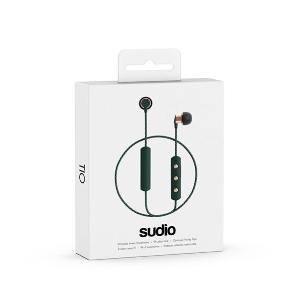 Bluetooth イヤホン SUDIO TIO GREEN グリーン(SD-0043)  おしゃれ ワイヤレス イヤフォン