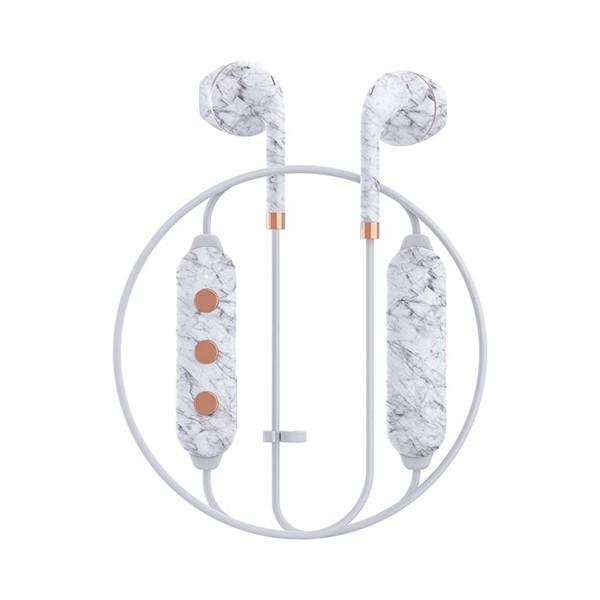 Happy Plugs WIRELESS2 WHITE MARBLE 【7626】 おしゃれ かわいい Bluetooth 両耳 ワイヤレス イヤホン (送料無料) e-earphone