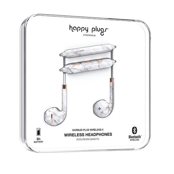 Happy Plugs WIRELESS2 WHITE MARBLE 【7626】 おしゃれ かわいい Bluetooth 両耳 ワイヤレス イヤホン (送料無料) e-earphone 05