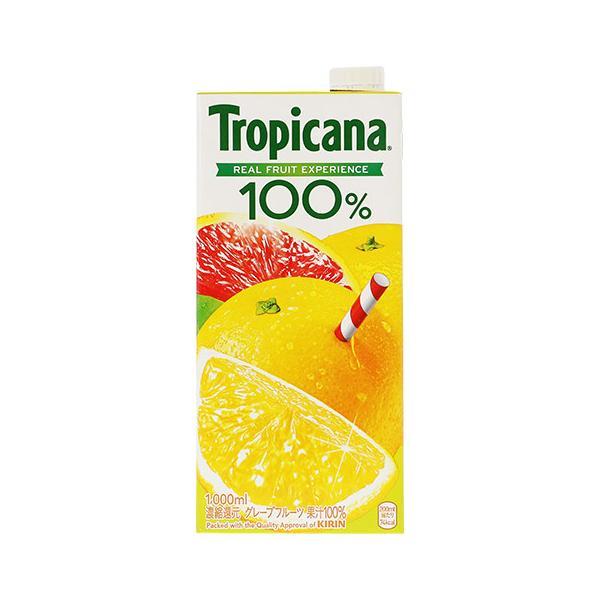 ジュース トロピカーナ100%ジュース グレープフルーツ 1000ml(1L) 18本まで1梱包可能 割り材 包装不可