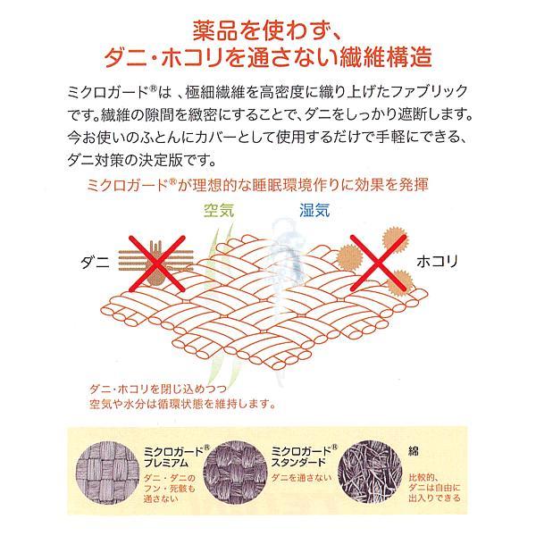 テイジン「ミクロガード ・プレミアム」 敷カバー /シングルSL|e-futon|05