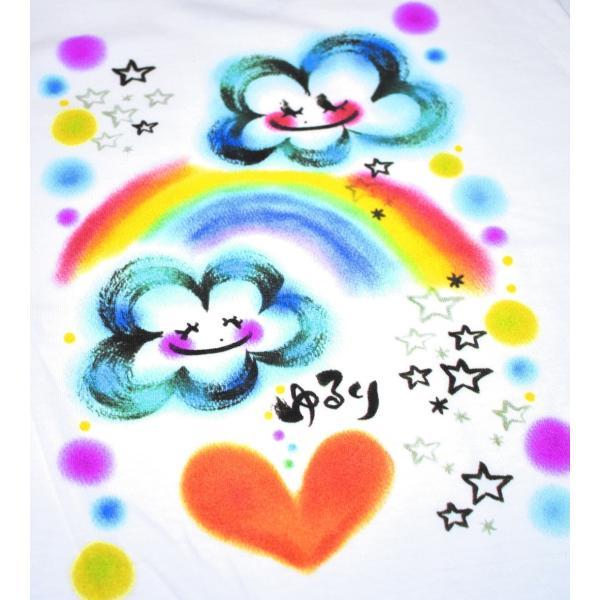 画家 わだのめぐみデザイン柄 レディース長袖Tシャツ|e-gao-appa|02