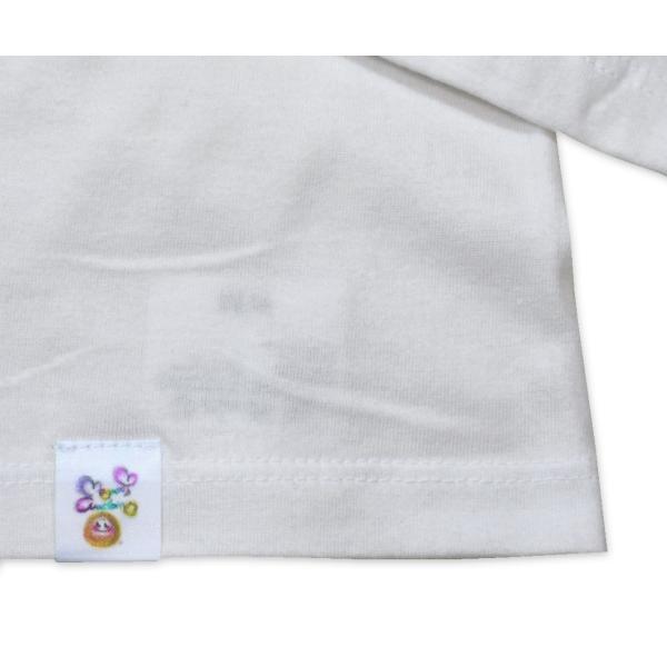 画家 わだのめぐみデザイン柄 レディース長袖Tシャツ|e-gao-appa|03