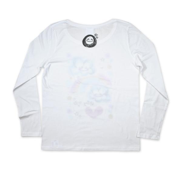 画家 わだのめぐみデザイン柄 レディース長袖Tシャツ|e-gao-appa|04