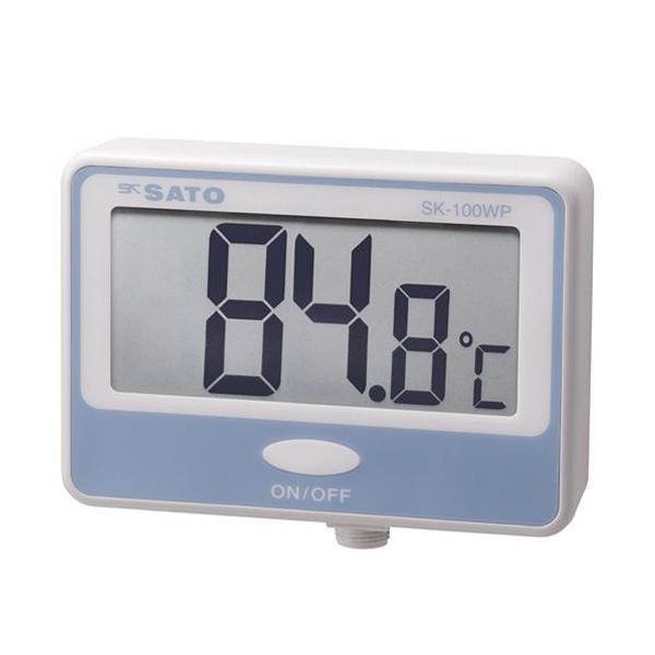 佐藤計量器製作所 8050-00 壁掛型防水デジタル温度計 SK-100WP 指示計のみ SATO