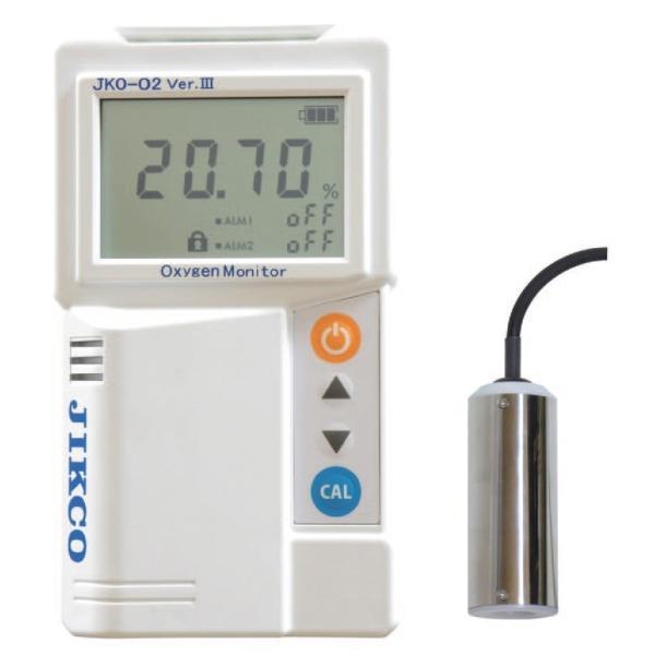 イチネンジコー 酸素濃度計 JKO-O2 Ver.3シリーズ 低濃度タイプ センサー:分離型 検知部形状:リード線3m JKO-O2LD3