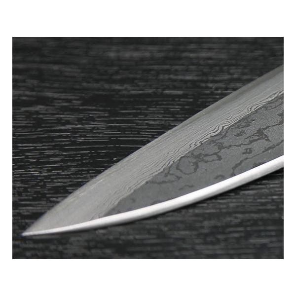 包丁 越前打刃物 風紋 舟行 (薄出刃包丁)刃渡り155mm|e-hamono|04