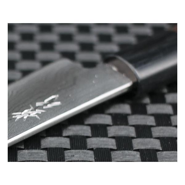 高級包丁 越前打刃物 風紋ペティナイフ 刃渡り110mm(片刃仕立て) 送料無料|e-hamono|02