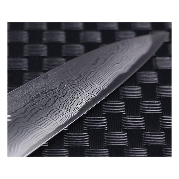 高級包丁 越前打刃物 風紋ペティナイフ 刃渡り110mm(片刃仕立て) 送料無料|e-hamono|04