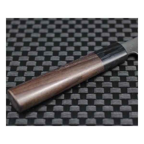 高級包丁 越前打刃物 風紋ペティナイフ 刃渡り110mm(片刃仕立て) 送料無料|e-hamono|05