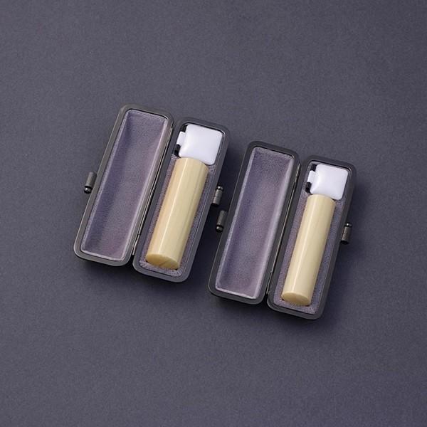 印鑑セット/実印・銀行印2本セット/エレガント付-LL-薩摩本柘-18mm15mm/熟練職人の手彫り仕上げ