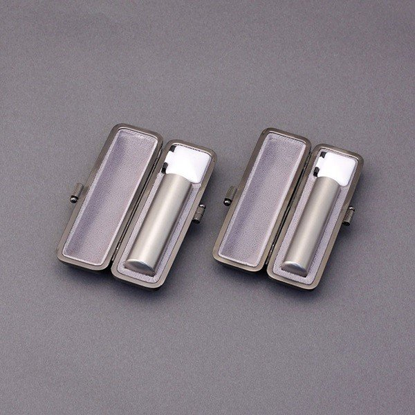 印鑑セット/実印・銀行印2本セット/エレガント付-LL-シルバーチタン-18mm15mm/上彫り職人の作成印影