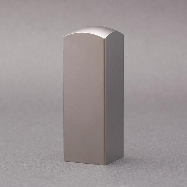 法人印/角印/寸胴タイプ-シルバーピュアチタン-21mm/ケース別売/上彫り職人の作成印影
