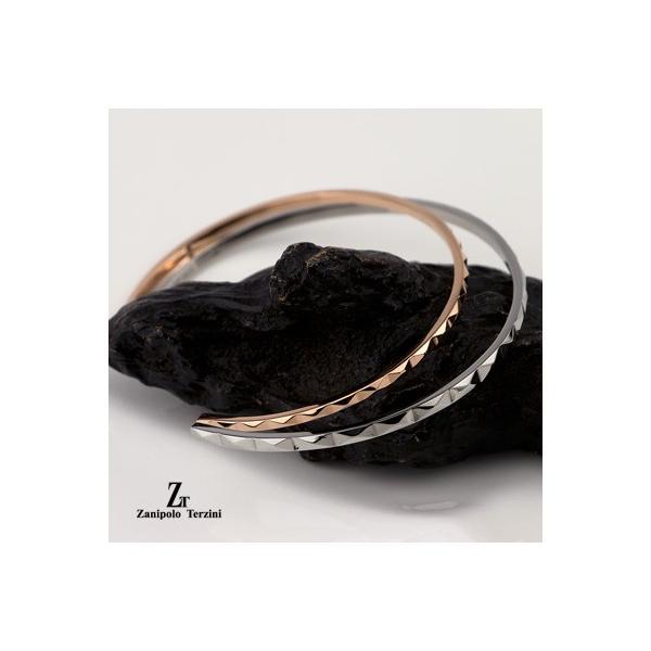 ペアバングル ペアブレスレット サージカル ステンレススチール(316L) ダイヤモンド Zanipolo Terzini ザニポロ・タルツィーニ ZTB3701