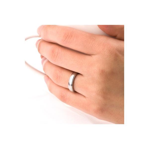 チタンリング 結婚指輪 純チタン 純チタン マリッジリング プラチナイオンプレーティング 単品|e-housekiya|05