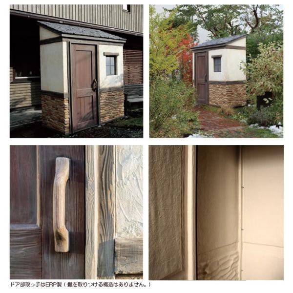 物置 屋外専用 ガーデン物置 Cots knob FRP製ドア取っ手タイプ 組立式 物置小屋 クラシカル おしゃれ 【代引き不可】|e-housemania|04