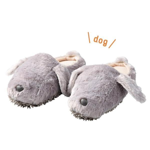 モップスリッパ 洗える  ふわふわモップスリッパ(イヌ) 足のサイズ約23〜26cmに対応|e-housemania|02